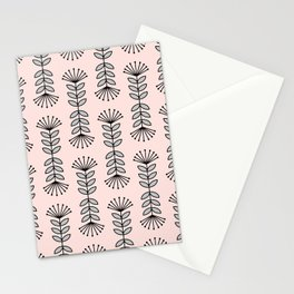 Retro Pink Floral Pattern-Mix and Match with Simplicity of Life Stationery Cards