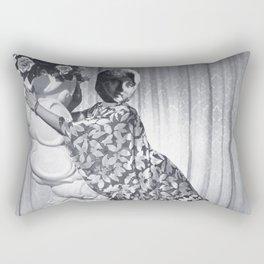 STATUE GIRL Rectangular Pillow