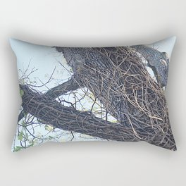 Three Young Squirrels in a Tree - Version 2 Rectangular Pillow