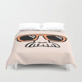 Too Cool (red orange) Duvet Cover