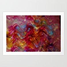 Ribbon Candy Painting  Art Print