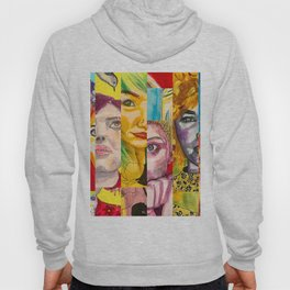 Female Faces Portrait Collage Design 1 Hoody