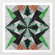 Marble Geometric Background G439 Art Print