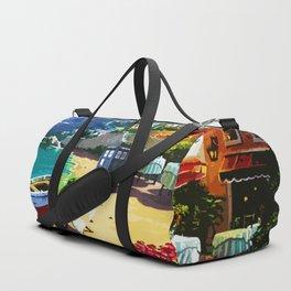 Tardis And The Beach Duffle Bag