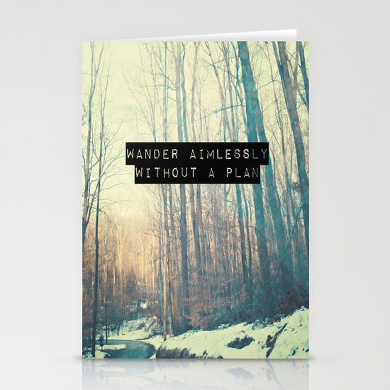 Wander Aimlessly  Stationery Cards