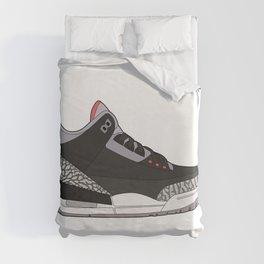 Jordan 3 - Black Cement Duvet Cover