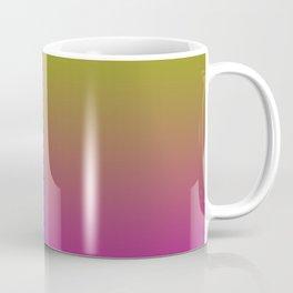 Deep Gradient Mi-Parti (Half And Half) Design! (Dark Orange, Blue, Yellow, and Pink) Coffee Mug