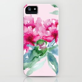 Pink Peonies iPhone Case