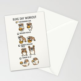 Buns Day Workout Stationery Cards