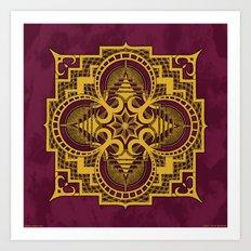 omjárah gold gallery mandala Art Print