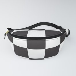 Black and White Checkered Pattern Fanny Pack