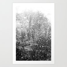 Snow in early fall(3) Art Print