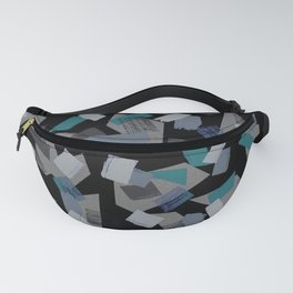 Geo Brush Black Fanny Pack