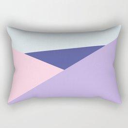 Triangels #1 - Blue And Violet Quietude Rectangular Pillow