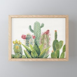 Cactus Watercolor Framed Mini Art Print
