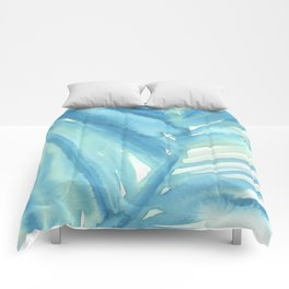 Abstract Palm Leaf Comforters