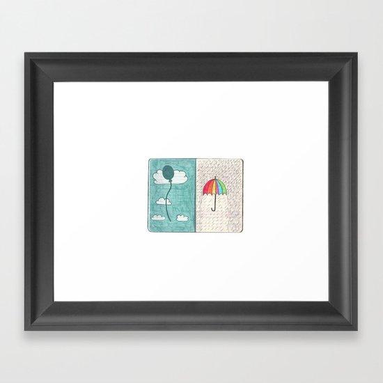 Always trust the weather Framed Art Print