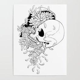 Skull (Pushing Up Daisies) Poster