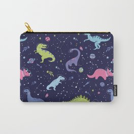 Dinosaurs in Space Carry-All Pouch
