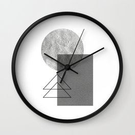 Grey white geometric Wall Clock