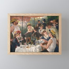 Luncheon of the Boating Party by Renoir Framed Mini Art Print