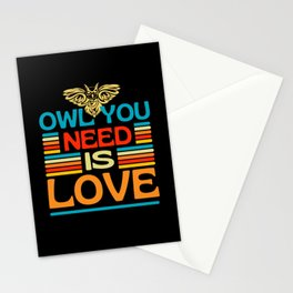 Owl You Need Is Love  Owl Animals Puns Stationery Cards