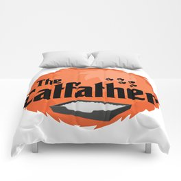 The Catfather - Cat Father Pussycat Meow Comforters