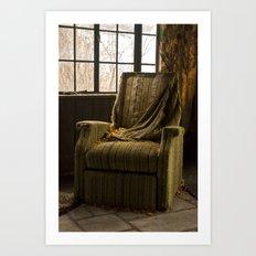 Abandoned Green Nunnery Chair Art Print