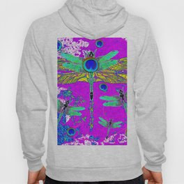 FANTASY DRAGONFLIES DREAMSCAPE PURPLE ART Hoody