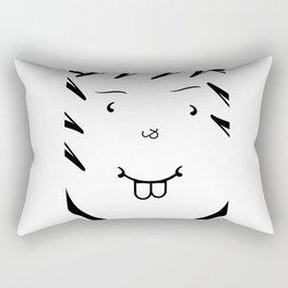 Type Face Rectangular Pillow