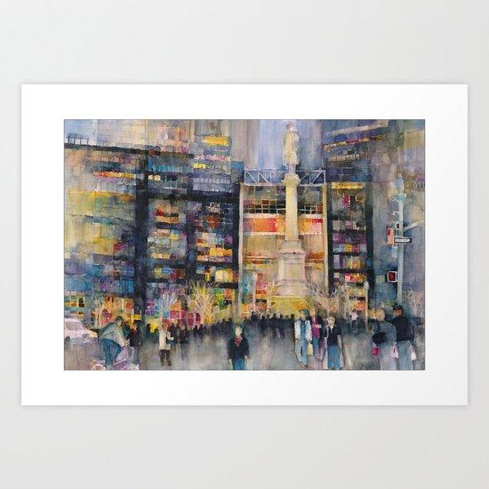 Time Warner Building, New York City Art Print