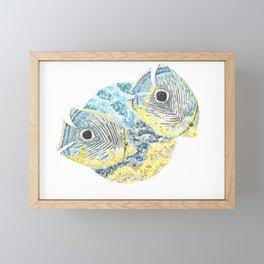 Four Eyed Butterfly Framed Mini Art Print