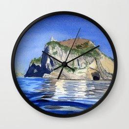 Lighthouse in Campania Wall Clock