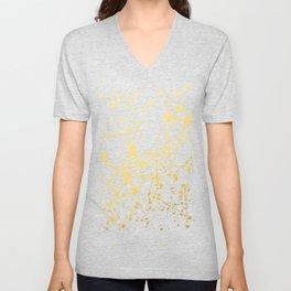 Splat White Gold Unisex V-Neck