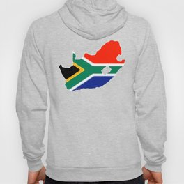South Africa Map with South African Flag Hoody