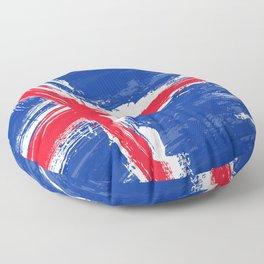 Iceland's Flag Design Floor Pillow