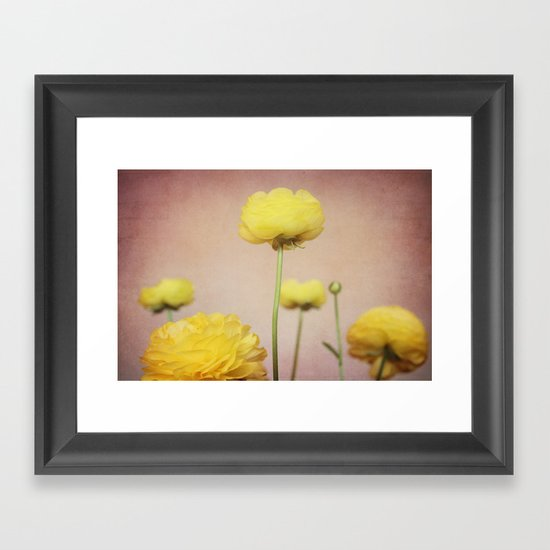 Daydreaming in Yellow Framed Art Print
