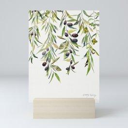 Olive Branch Watercolor  Mini Art Print