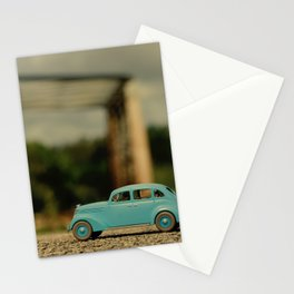Old car miniature Stationery Cards
