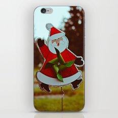 Santa greetings iPhone & iPod Skin