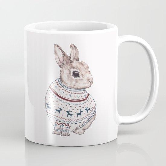 sweater rabbit Mug