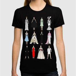 Outfits of Audrey Hepburn Fashion (White) T-shirt