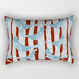 For the Birds and Birch Trees Rectangular Pillow