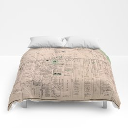 Vintage Map of Flatbush Brooklyn NY (1873) Comforters