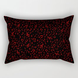 dark red music notes Rectangular Pillow