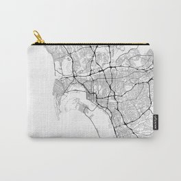 Minimal City Maps - Map Of San Diego, California, United States Carry-All Pouch