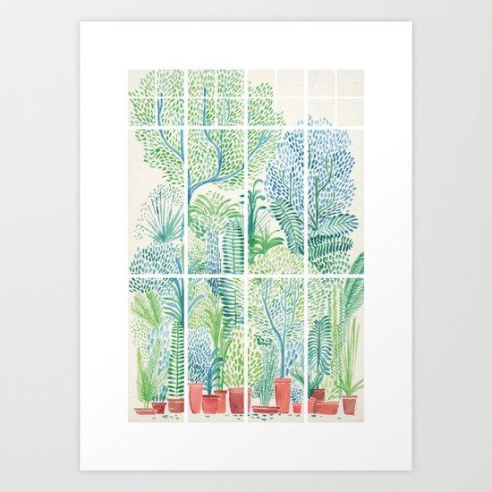 Winter in Glass Houses I Art Print