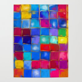 MoSaiC ART ' ALL THe PReTTY CoLouRS ' By SHiRLeY MacARTHuR Poster