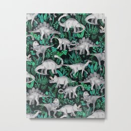 Dinosaur Jungle Metal Print