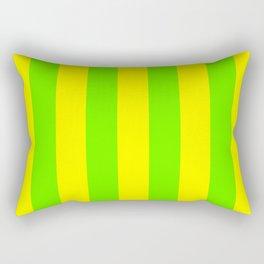 Bright Neon Green and Yellow Vertical Cabana Tent Stripes Rectangular Pillow